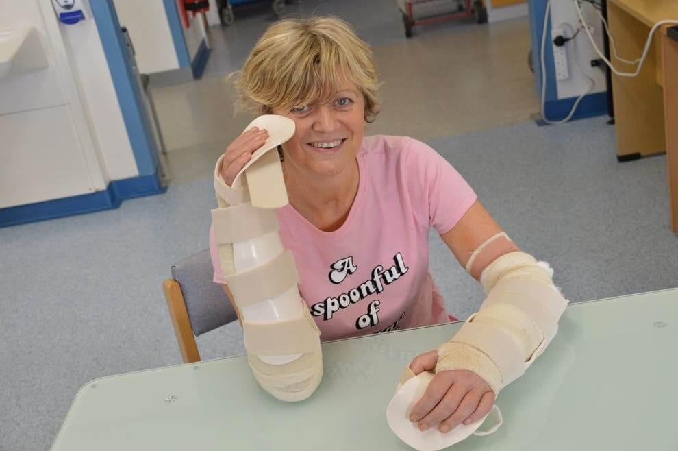 Cor Hutton who had a double hand transplant
