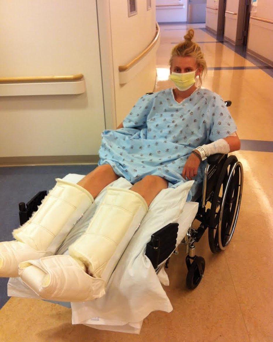 Lauren Wasser in the hospital