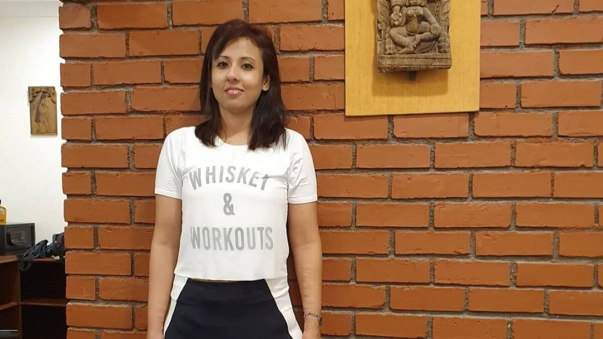 33-year-old fitness and yoga trainer Arpita Roy