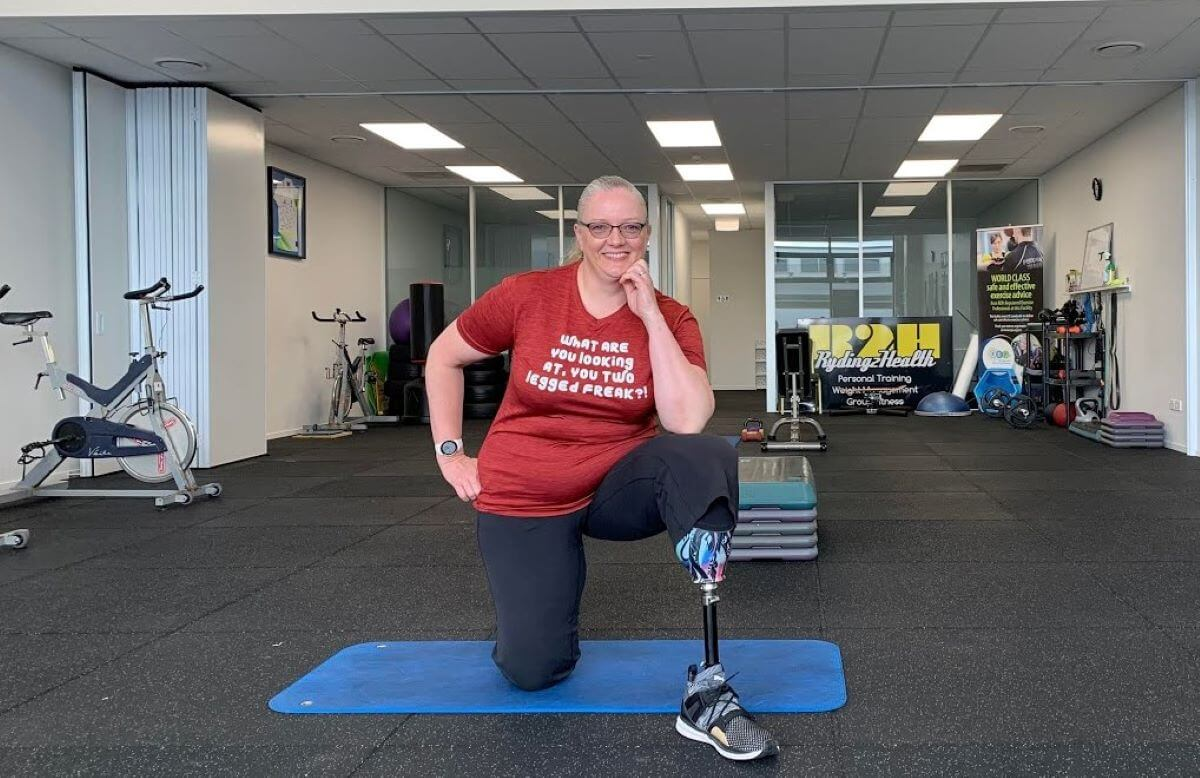 I am Melanie Ryding, and I am a personal trainer and left leg below the knee amputee